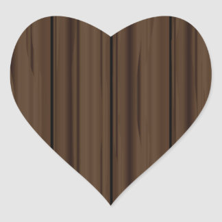 Dark Brown Fence Fence Heart Sticker
