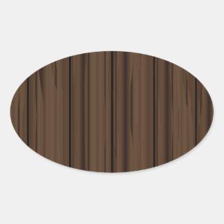 Dark Brown Fence Fence Oval Sticker