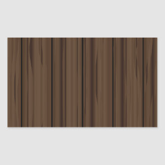 Dark Brown Fence Fence Rectangular Sticker