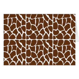 Dark Brown Giraffe Pattern Greeting Card