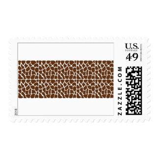 Dark Brown Giraffe Pattern Postage Stamps