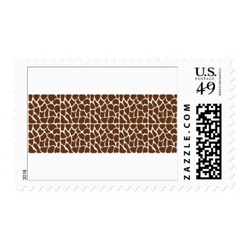 Dark Brown Giraffe Pattern Stamps