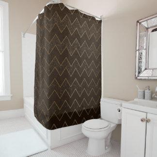 dark brown shower curtain. Dark Brown Grunge Chevron with Bronze Accents Shower Curtain Curtains  Zazzle