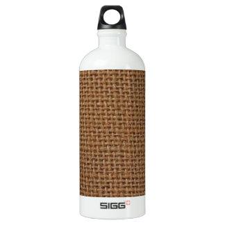 Dark brown jute burlap photo realistic SIGG traveler 1.0L water bottle