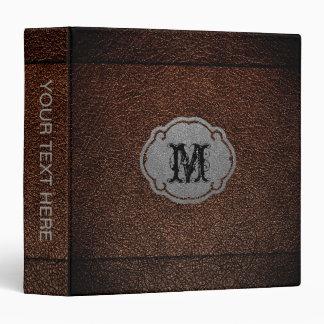 Dark Brown Leather Vinyl Binder