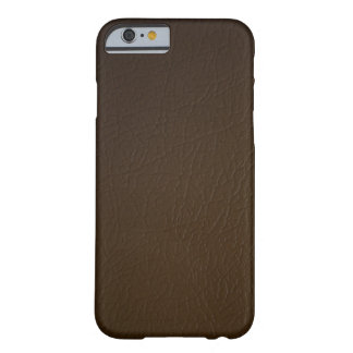 Dark Brown Leather Look iPhone 6 case