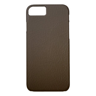 Dark Brown Leather Look iPhone 7 case