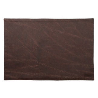 Dark Brown Leather Print Cloth Placemat