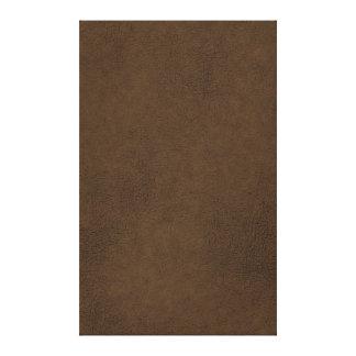 Dark Brown Leather Texture Pattern Background Canvas Print