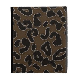 Dark Brown Leopard Print iPad Folio Case