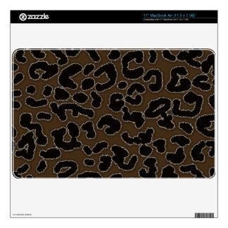 Dark Brown Leopard Print Skin For MacBook