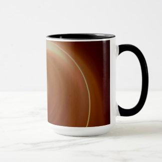 Dark Brown Light Spiral Art Mug