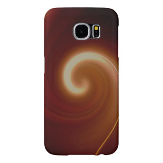 Dark Brown Light Spiral Art Samsung Galaxy S6 Case