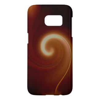 Dark Brown Light Spiral Art Samsung Galaxy S7 Case