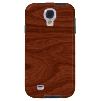 Dark Brown Mahogany Wood Pattern Woodgrain Look Galaxy S4 Case
