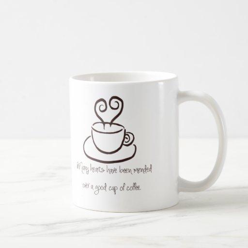 Dark Brown Mended Hearts Coffee Mug
