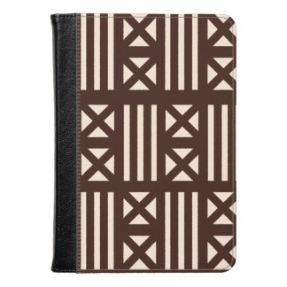 Dark Brown MudCloth Inspired Tile Tiling Cross