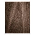 Dark brown oak wood grain scrapbook paper letterhead