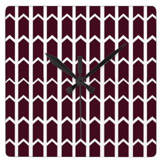 Dark Brown Panel Fence Square Wallclocks