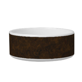 Dark Brown Pattern Cat Water Bowls