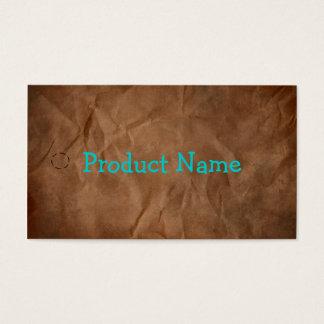 Dark Brown Primitive Paper Hang Tag