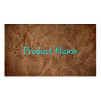 Dark Brown Primitive Paper Hang Tag Business Card