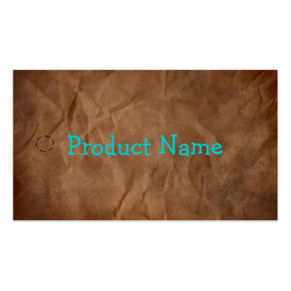 Dark Brown Primitive Paper Hang Tag Double-Sided Standard Business Cards (Pack Of 100)