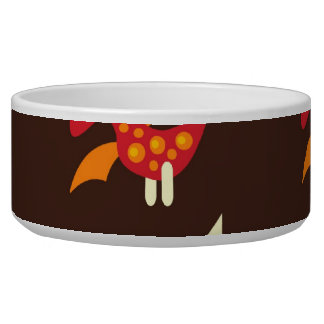 Dark Brown Red and Orange Spiked Dinosaurs Bowl