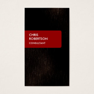 Dark Brown Red Attractive Charming Business Card