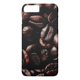 Dark Brown Roasted Coffee Beans Texture iPhone 7 Plus Case