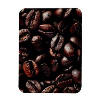 Dark Brown Roasted Coffee Beans Texture Magnet