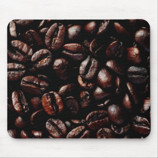 Dark Brown Roasted Coffee Beans Texture Mouse Pad