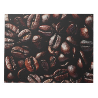 Dark Brown Roasted Coffee Beans Texture Notepad