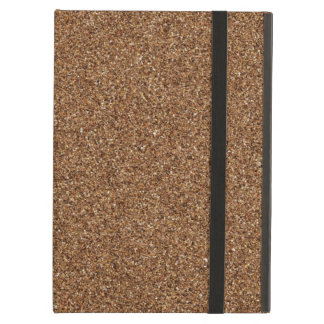 DARK BROWN SAND TEXTURE iPad AIR COVER