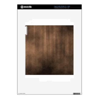 Dark Brown Striped Grunge Design Skins For The iPad 2