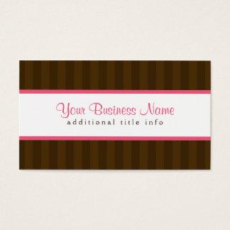Dark Brown Stripes Business Card