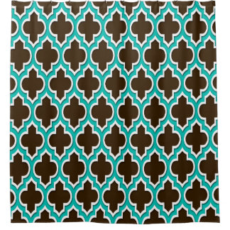Brown Teal Shower Curtains   Zazzle