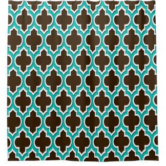 dark teal shower curtain. Dark Brown Teal White XL Moroccan  4DS Shower Curtain Curtains Zazzle