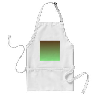 Dark Brown to Mint Green Horizontal Gradient Aprons