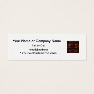 Dark brown weave from picnic basket mini business card