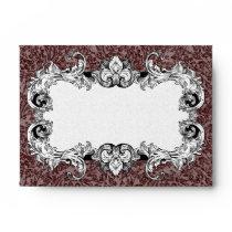 Dark Brown & White A6 Gothic Baroque Envelopes