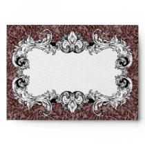 Dark Brown & White A7 Gothic Baroque Envelopes