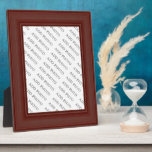 "Dark Brown Wood Frame Add Photo Plaque<br><div class=""desc"">Add your own text or photo to these frames. Make sure the photos are no less than 200 pixels. 300 pixels are even better. Re size your photo to fit the area for it. Sometimes you will have to re-size it to fit properly before uploading. If you need help, send...</div>"