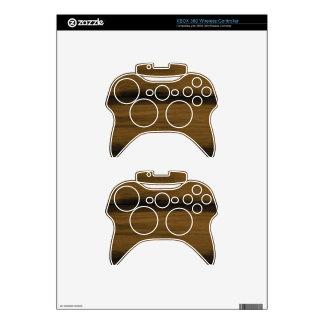 Dark Brown Wood Grain Xbox 360 Controller Decal