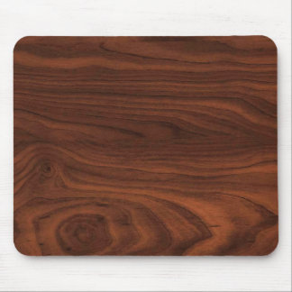 Dark Brown Wood Look Mouse Pad