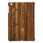 dark brown wood panel iPad mini covers