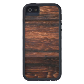 Dark Brown Wood Panels Printed Cover For iPhone 5