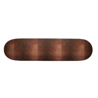 Dark Brown Wood Texture Skateboard