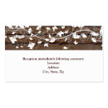 Dark Brown Wood White Reception Enclosure Card Business Card