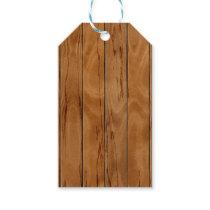 Dark brown wooden floor texture gift tags